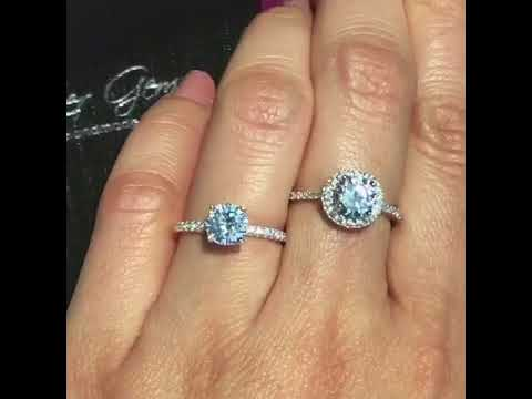 1.25 ctw round accented solitaire vs the 1.5 ctw round classic halo