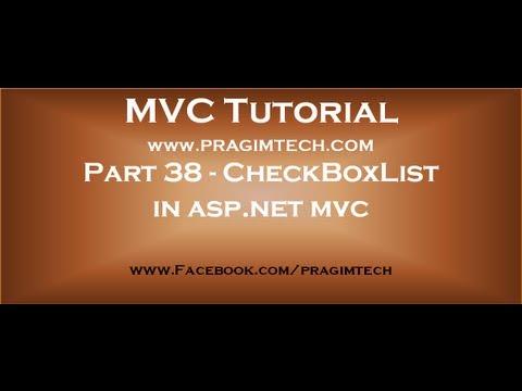 Part 38   CheckBoxList in asp net mvc