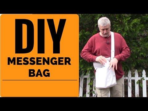 DIY Messenger Bag   Sew A Canvas Man Bag STEP BY STEP