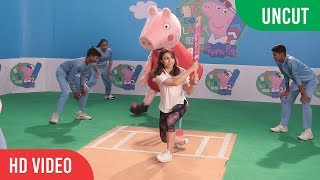 Soha Ali Khan Shooting an Interesting Cricket Video with kids' favourite toon - Peppa Pig