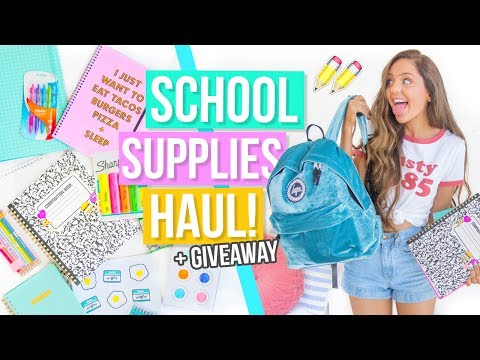 Back To School Supplies Haul + GIVEAWAY 2017!