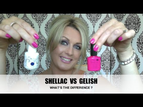 SHELLAC  Vs GELISH -  WHAT'S THE DIFFERENCE ?