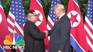 President Donald Trump And Kim Jong Un Shake Hands At Summit | NBC News