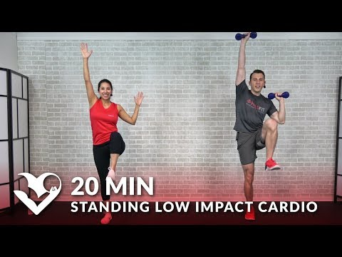 20 Minute Standing Low Impact Cardio Workout with No Jumping - 20 Min Standing Workout for Beginners