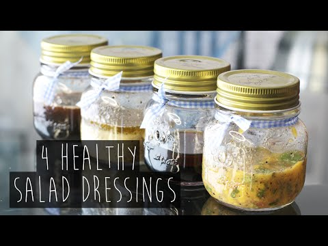 How to | 4 Quick and Healthy Salad Dressing Recipes | Eva Chung