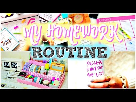 MY SCHOOL HOMEWORK ROUTINE | How To Do Your Homework!