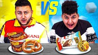 😍Süßes vs. Salziges Essen Challenge   Can Wick