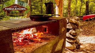 Barbecue (BBQ) Ham and Eggs   The Forest Kitchen   Off Grid Log Cabin Build, Ep.6 S1