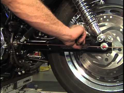 Harley Davidson Maintenance Tips: Sportster Motorcycles - Rear Wheel Alignment