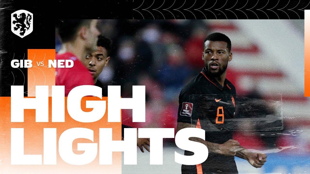 Highlights Gibraltar - Nederland (30/03/2021) WK-kwalificatie
