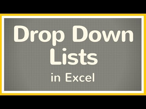 How to Make a Drop Down List in Excel - Tutorial