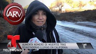 Aumentan las muertes por trágicos deslaves en California | Al Rojo Vivo | Telemundo