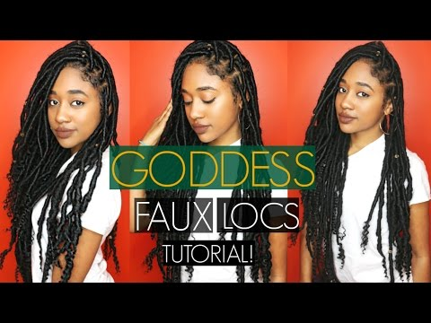 SUPER Long Goddess Faux Locs on Long Natural Hair| Protective Style