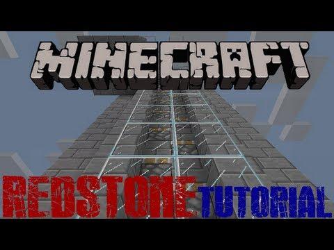 Minecraft: Redstone Tutorial - Fast Piston Elevator [1.6.2]