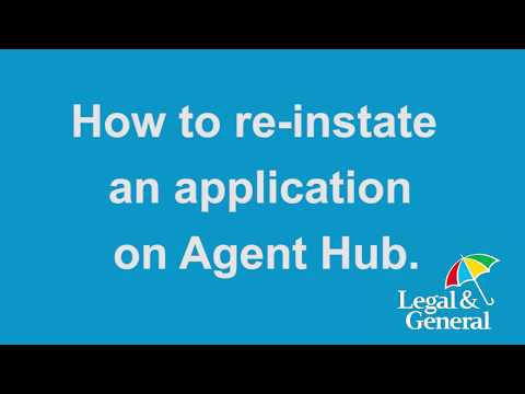 How to reinstate a application on Agent Hub