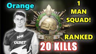 PUBG RANKED - Unity Orange - 20 KILLS - 1 MAN SQUAD! - Beryl M762 + Mini14