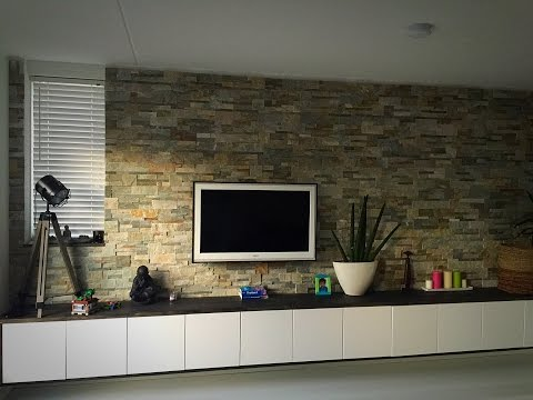 How to DIY Stone Panel wall
