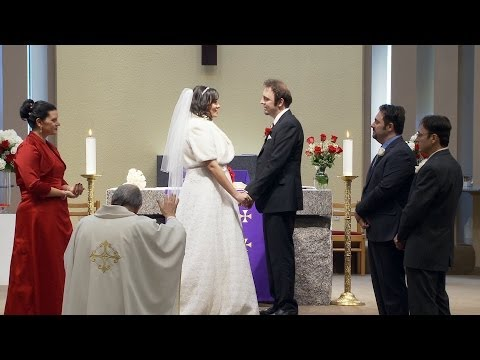 Marriage Vows and Wedding Ring Exchange at St. Peters Church Woodbridge