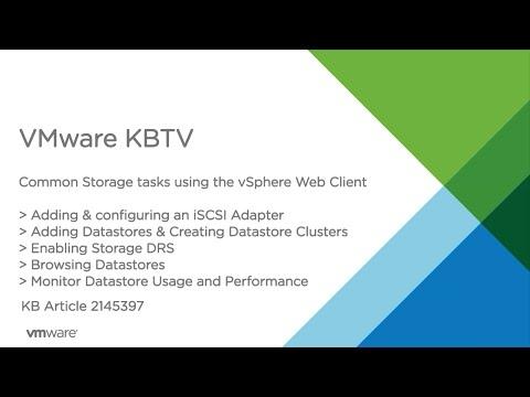 Common Storage Tasks in the vSphere Web Client