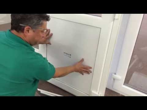 How to replace a PVC door panel