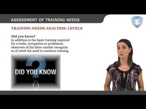 ASSESSMENT OF TRAINING NEEDS