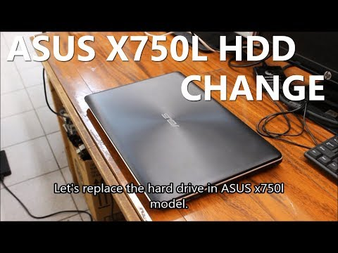 ASUS x750l Hard Drive & DVD Drive Replacement