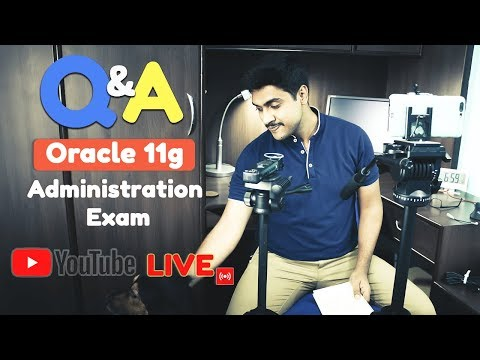 Live🔴 Discussion on Oracle 11g Administrator certifications with Manish Sharma