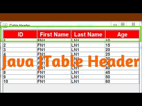 Java JTable Header Background, Font, Alignment, Text Color [ with source code ]