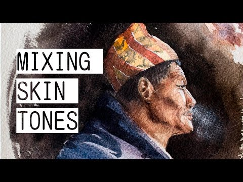 How to Mix Skin Tones (Watercolor) + SPEEDPAINT