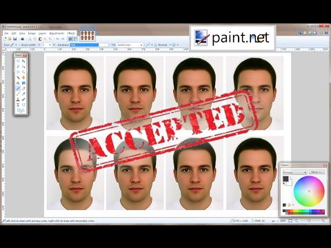 Create Passport Size Photo in Paint.NET in 3 minutes