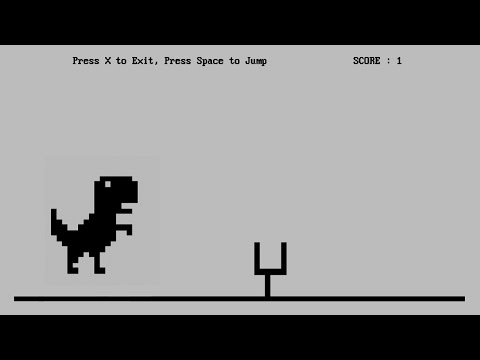 C++ Game Tutorial - Dinosaurs Game in Turbo C++ With Source Code - Basics for Beginner