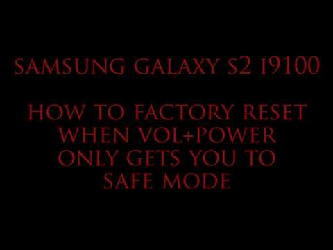 Forgotten password factory reset, Samsung Galaxy S2 i9100