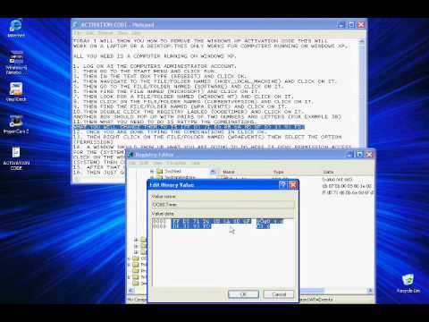 Step by step instructions on how to bypass windows XP activation