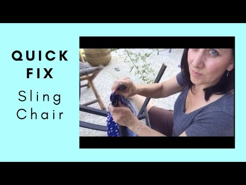 DIY Replacing the Fabric on the Outdoor Sling Style Chair