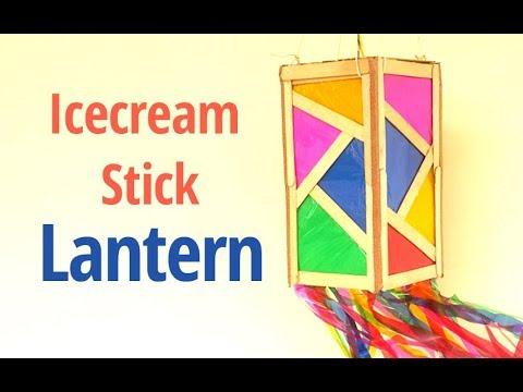 How to Make Paper Lantern from Icecream Sticks | Diwali Lanterns Making at Home | StylEnrich