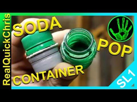 Waterproof Survival match Container soda cap hack