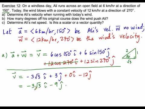 1.1 Vectors Ex. 12