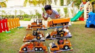 [1시간] 예준이의 자동차 장난감 중장비 포크레인 구출놀이 전동차 조립놀이 연속보기 Car Toys for Kids