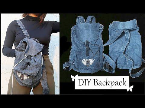 DIY: Old jeans/Denim Backpack | How to make Denim Backpacks