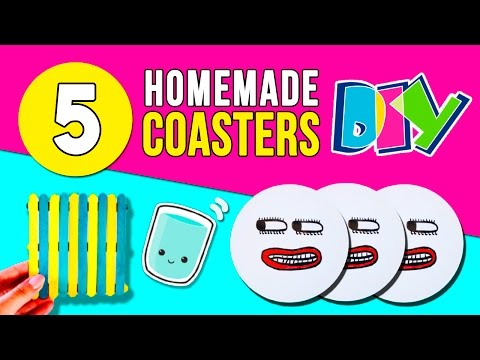 5 easy DIY COASTERS 🍹How to make homemade RECYCLED COASTERS for HOME DECOR ♻️