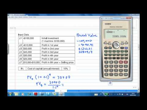 Net Present Value With Casio Financial Calculator Example 1