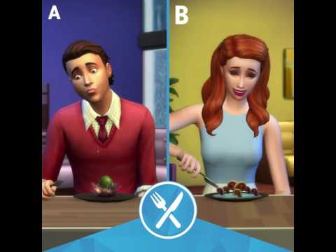 The Sims 4 Dine Out: Food Reactions Clip