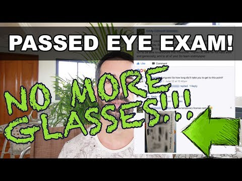 Fixed Eyesight: DMV Vision Test Passed - NO MORE GLASSES!!!! (*not Bates Method)