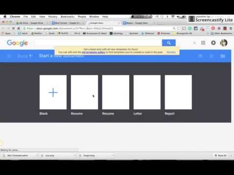 MLA Format Template Google Docs.webm
