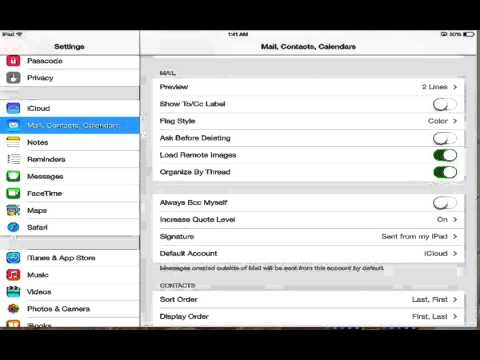 how to add or delete an email account in iPad, iPhone and iPod