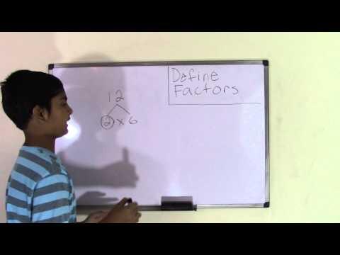 6th Grade Math Define Factors