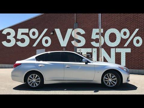 35% vs. 50% Car Window Tint Comparison (on my Infiniti Q50)