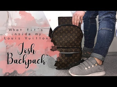 Louis Vuitton // What fits in my Josh Backpack