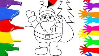 0506 simple christmas coloring pages for kids how to draw santa clause easy learn art