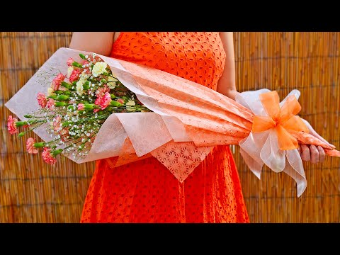Flower Bouquet Gift Wrapping